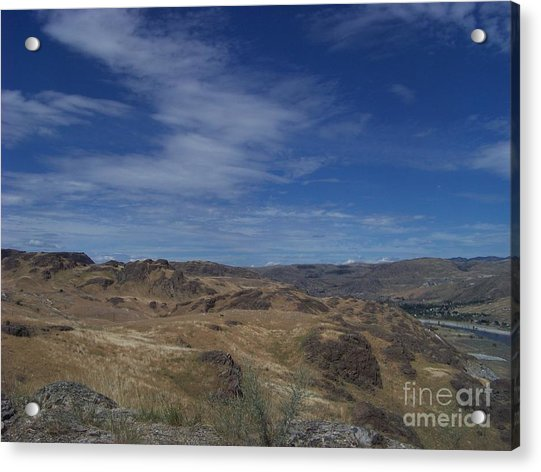 Scablands At Grand Coulee Acrylic Print