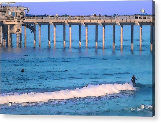 Scripps Pier - Surfing Acrylic Print