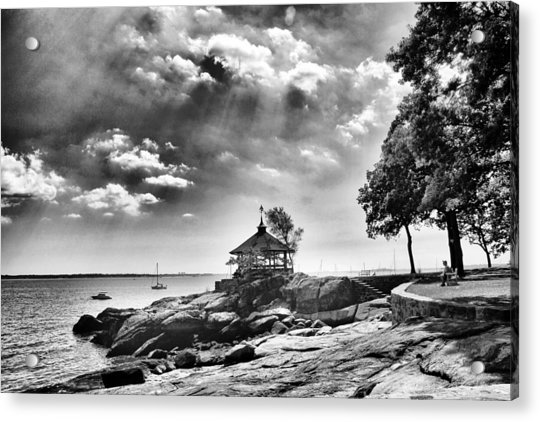 Seaside Gazebo Acrylic Print