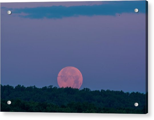 Setting Strawberry Moon Acrylic Print