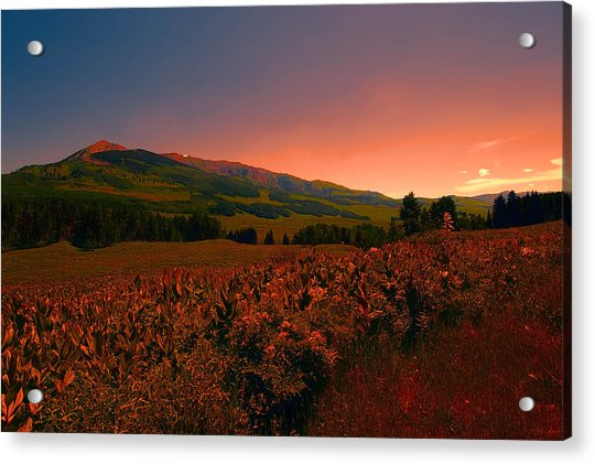 Setting Sun In Crested Butte Acrylic Print