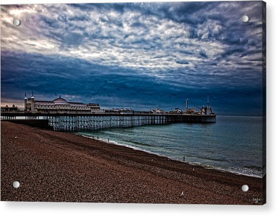 Acrylic Print featuring the photograph Seven Am On Brighton Seafront by Chris Lord