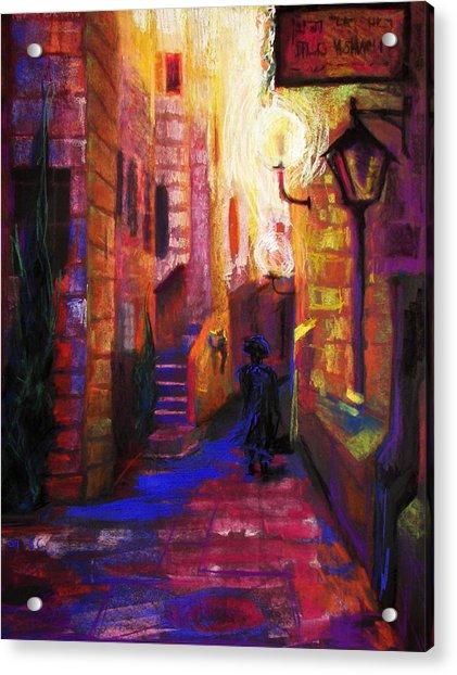 Acrylic Print featuring the painting Shabbat Shalom by Talya Johnson