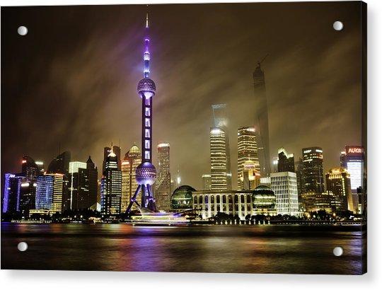 Shanghai Skyline Acrylic Print