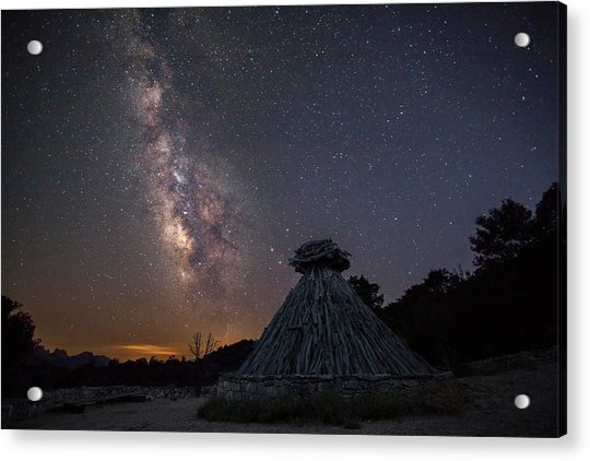 Sheepfold Under The Stars Acrylic Print