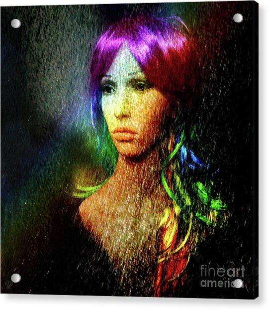 She's Like A Rainbow Acrylic Print