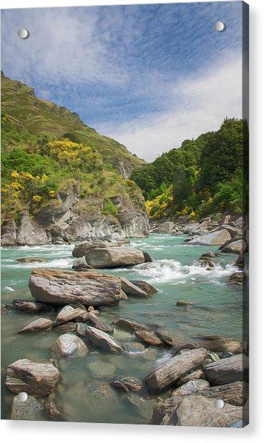 Shotover River Rapids New Zealand II Acrylic Print