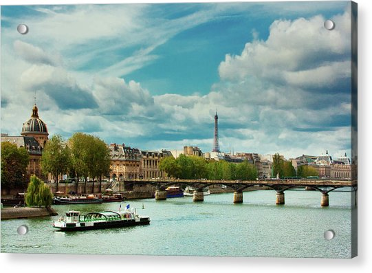 Sightseeing On The River Seine Acrylic Print