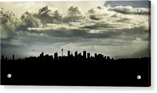Silhouette Of Sydney Acrylic Print