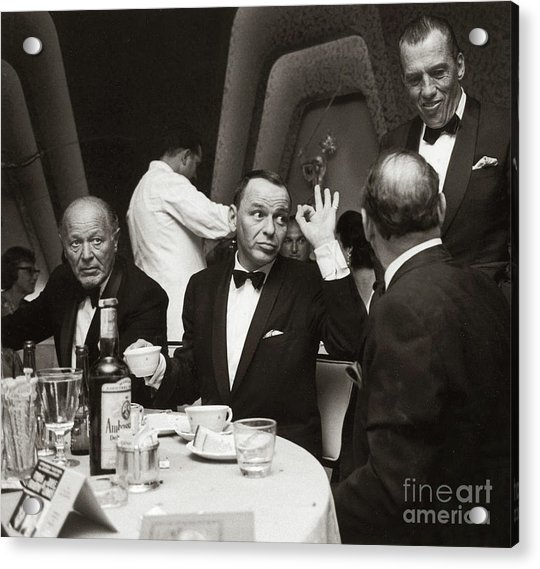 Sinatra And Ed Sullivan At The Eden Roc - Miami - 1964 Acrylic Print