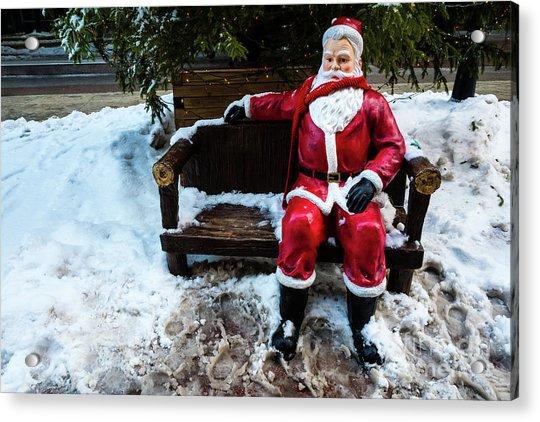 Sit With Santa Acrylic Print