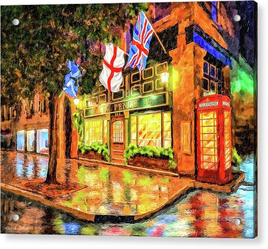 Six Pence Pub - Savannah In The Rain Acrylic Print