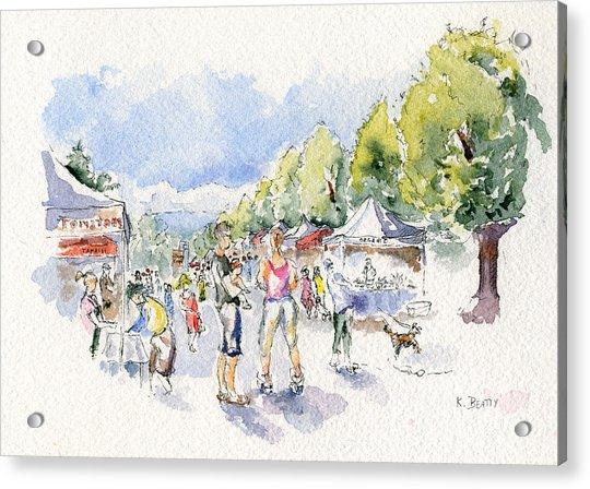 Sketch Of Farmer's Market Acrylic Print