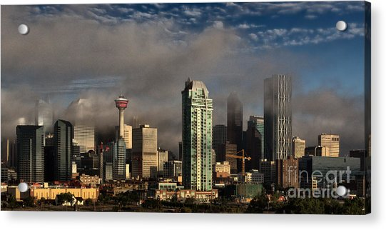 Skyline Fog Acrylic Print