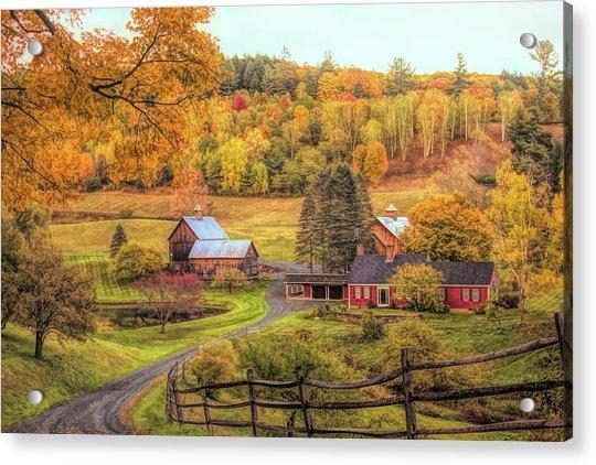 Sleepy Hollow - Pomfret Vermont In Autumn Acrylic Print