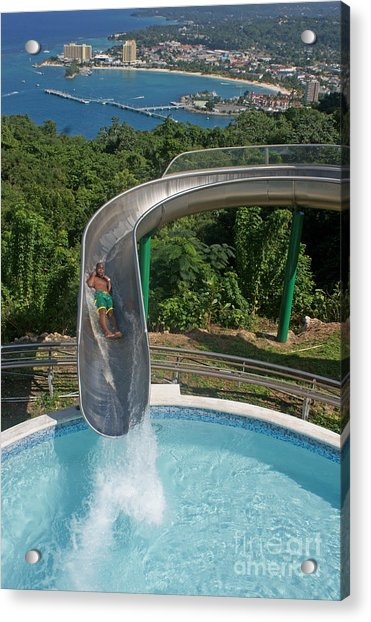Slide With A View  Acrylic Print