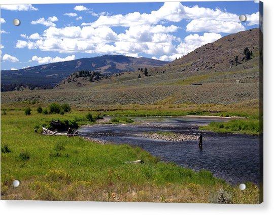Slough Creek Angler Acrylic Print