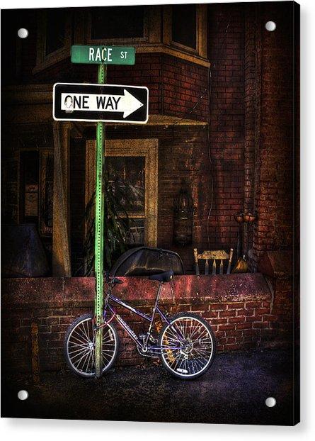 Slow Down On The Race Street Acrylic Print
