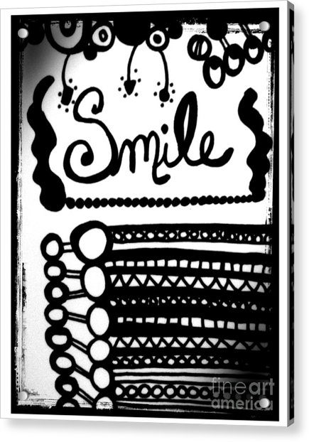 Acrylic Print featuring the drawing Smile by Rachel Maynard