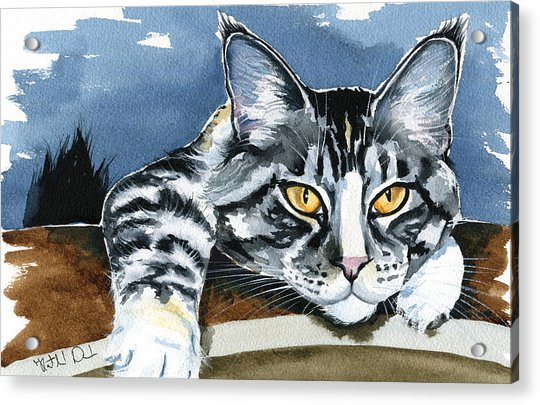 Smilla - Maine Coon Cat Painting Acrylic Print