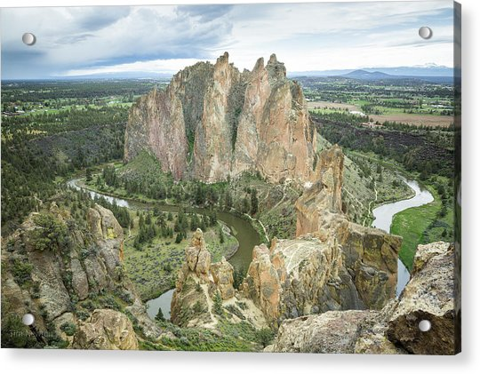 Acrylic Print featuring the photograph Smith Rock From Misery Ridge by Tim Newton