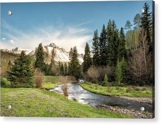Sneffels And Spring Stream Acrylic Print