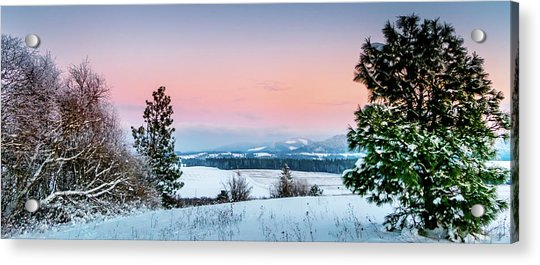 Snow Covered Valley Acrylic Print