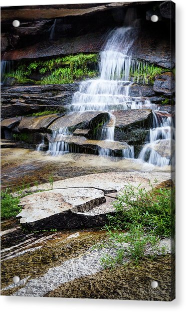 Acrylic Print featuring the photograph Snow Creek Cascade by Tim Newton