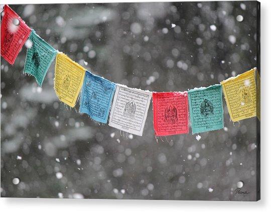 Snow Prayers Acrylic Print
