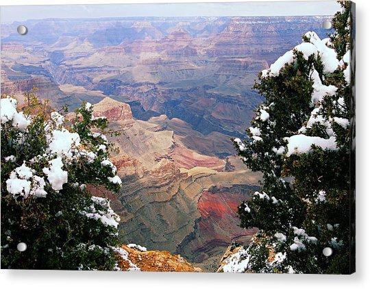 Snowy Dropoff - Grand Canyon Acrylic Print