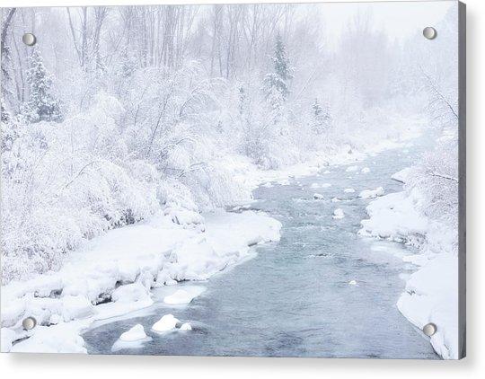 Snowy River Acrylic Print