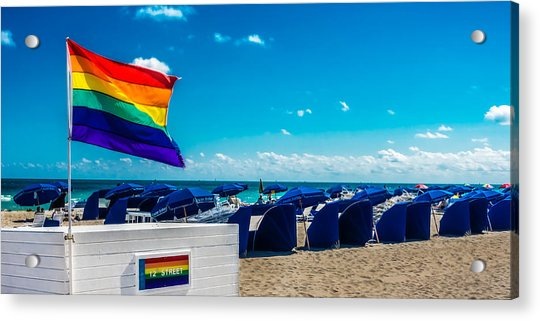 South Beach Pride Acrylic Print