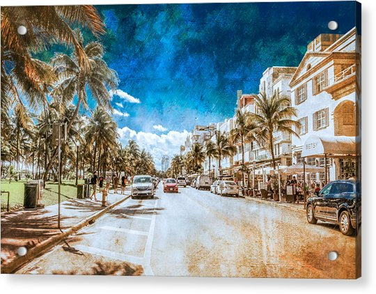 South Beach Road Acrylic Print