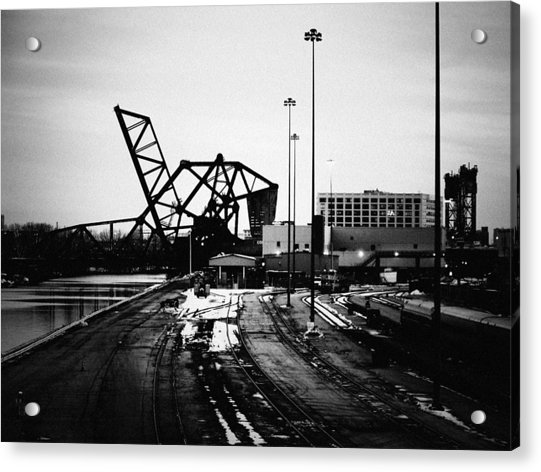 South Loop Railroad Bridge Acrylic Print