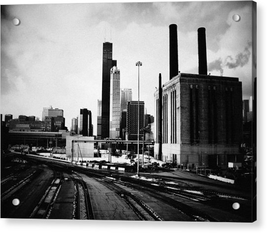 South Loop Railroad Yard Acrylic Print