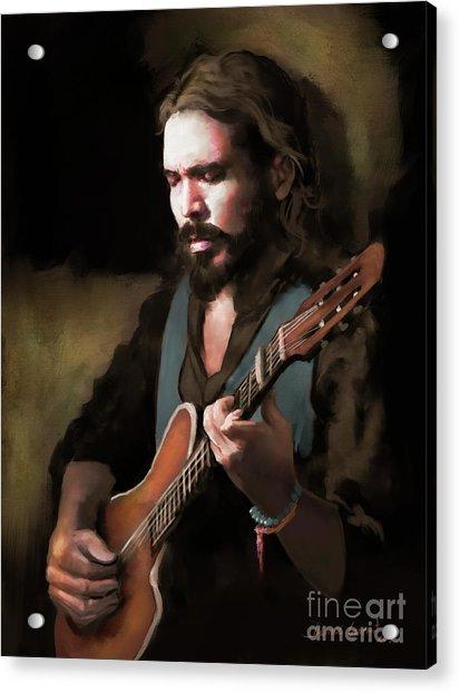 Acrylic Print featuring the digital art Spanish Guitar - El Javi by Dwayne Glapion