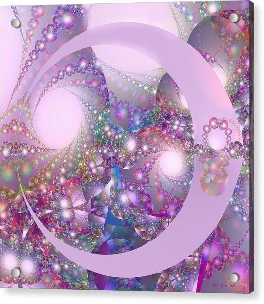 Spring Moon Bubble Fractal Acrylic Print