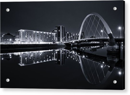 Squinty Bridge Glasgow Acrylic Print