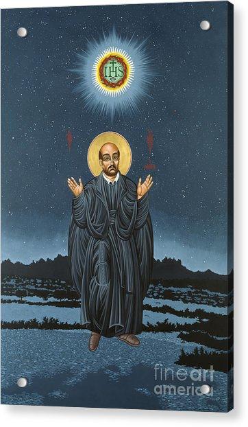 St. Ignatius In Prayer Beneath The Stars 137 Acrylic Print