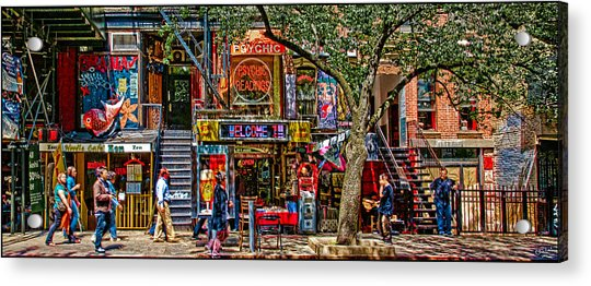 Acrylic Print featuring the photograph St Marks Place by Chris Lord