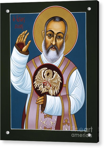 St Padre Pio Mother Pelican 047 Acrylic Print