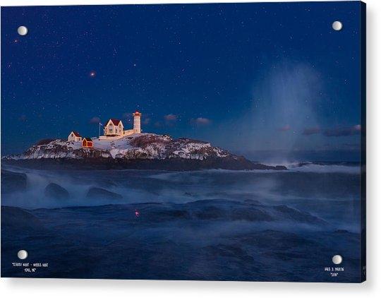 Starry Nubble Lighthouse Acrylic Print