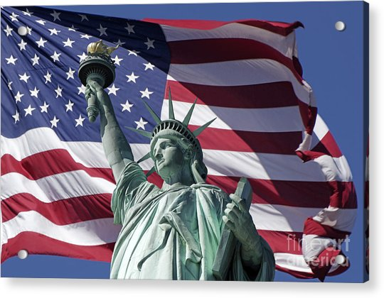Acrylic Print featuring the photograph Statue Of Liberty New York  by Juergen Held