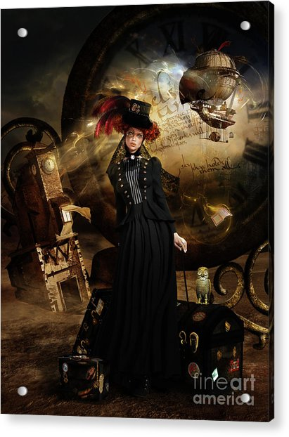Steampunk Time Traveler Acrylic Print