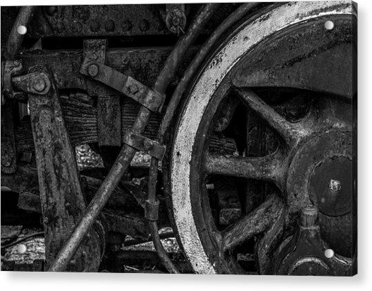 Steel Wheels In Monochrome Acrylic Print