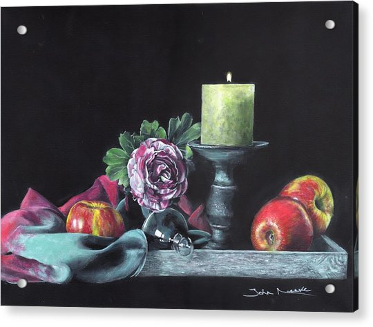 Still Life With Candle Acrylic Print