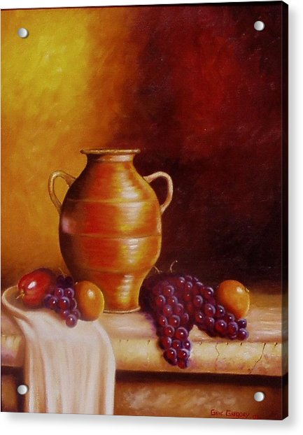 Still Life With Pot Acrylic Print
