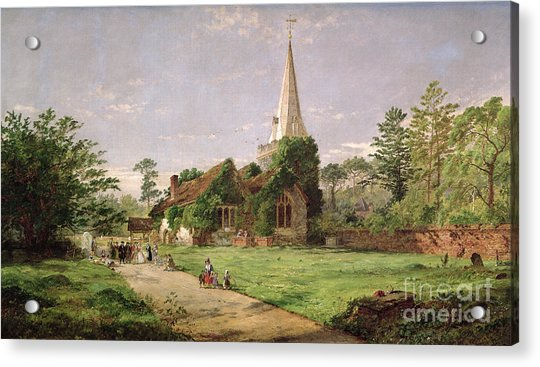 Stoke Poges Church Acrylic Print