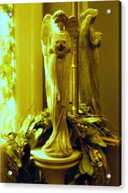 Stone Angel Acrylic Print by Christine Sullivan Cuozzo