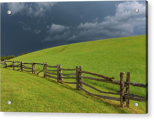 Storm At The Lump Acrylic Print by Jim Neal